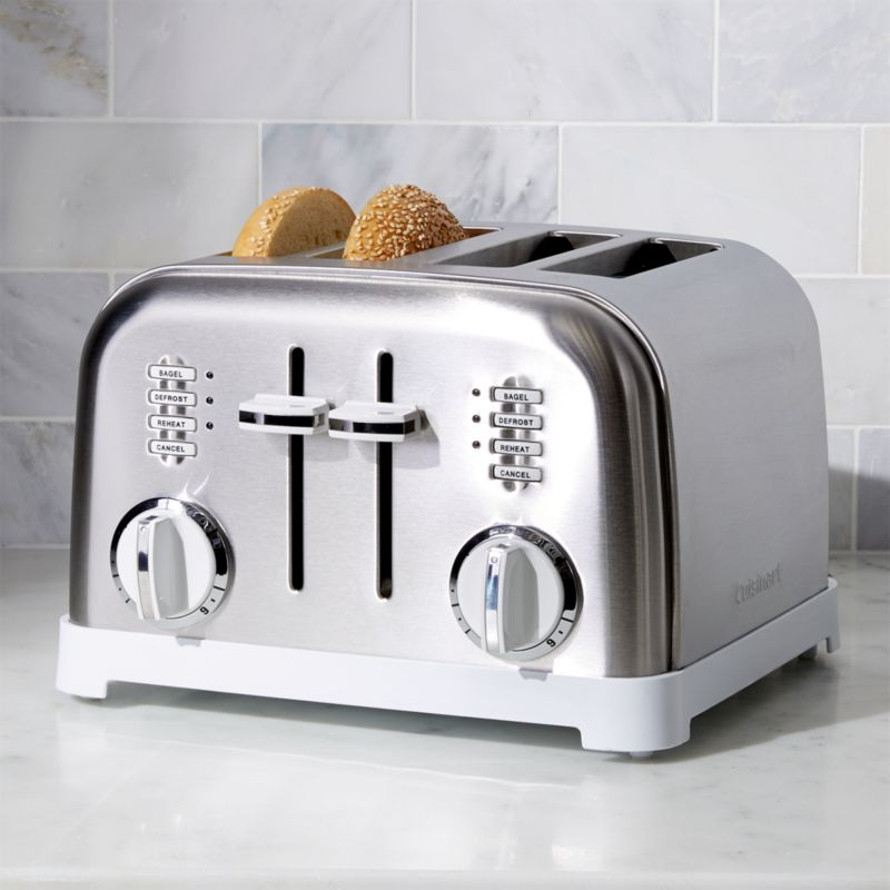 Cuisinart 174 Classic 4 Slice White Brushed Stainless Steel