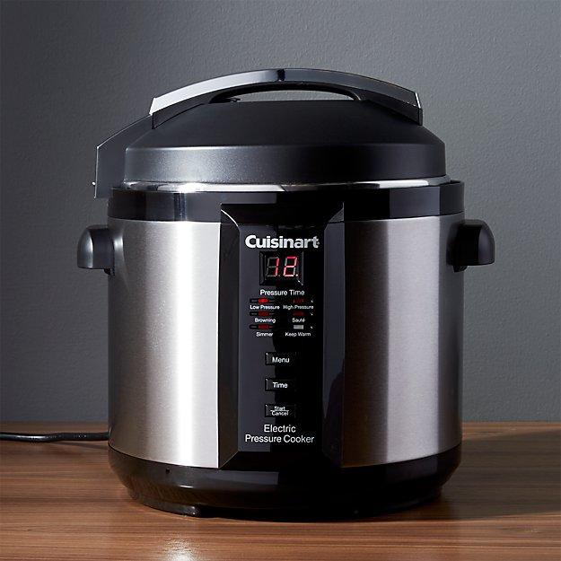 Cuisinart 6Quart Electric Pressure Cooker  Crate and Barrel