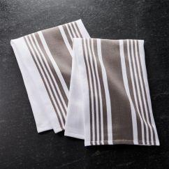 Kitchen Towels Cheap Cabinet Sets Cuisine Stripe Grey Dish Set Of 2 Reviews Crate And Barrel Cuisinestripedshtwlgreys2shs17