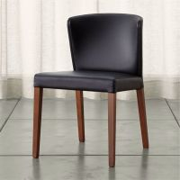 Curran Black Dining Chair | Crate and Barrel