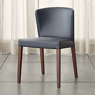 grey dining chairs outdoor stackable shop kitchen crate and barrel curran chair