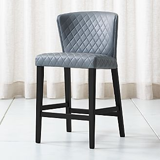 stool chair big w office blanket bar stools and counter wood metal more crate barrel curran quilted granite