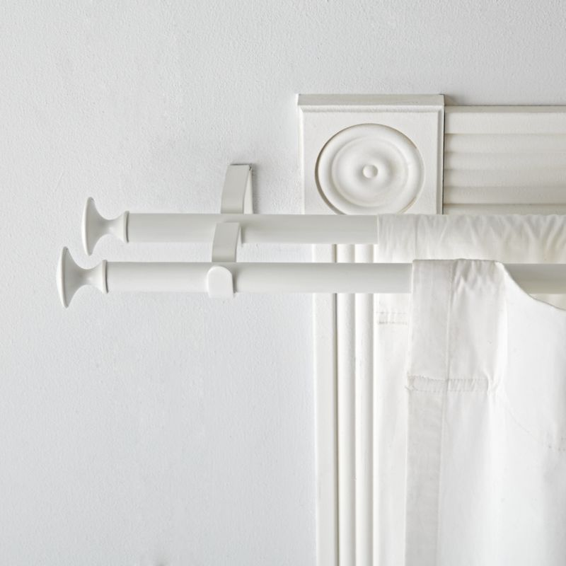 2848 Double White Curtain Rod  Reviews  Crate and Barrel