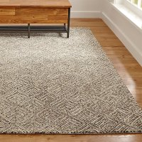 Curtis Flint Grey Wool-Blend Rug | Crate and Barrel
