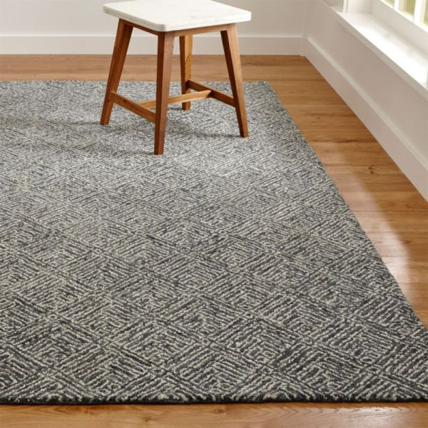 Curtis Indigo Blue Geometric Rug Crate And Barrel