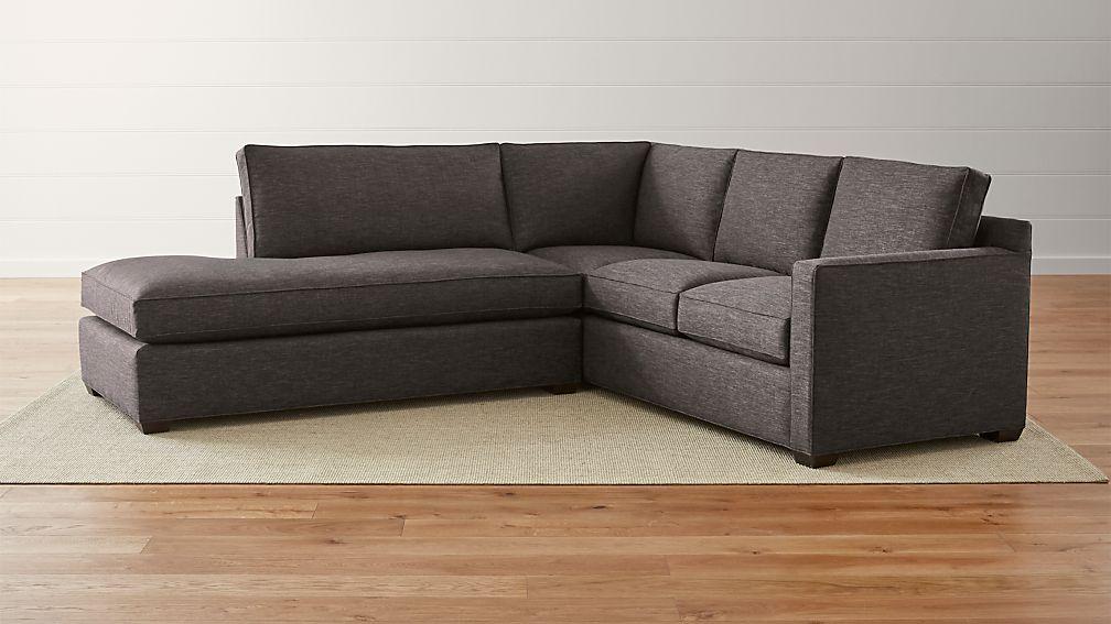 davis leather twin sleeper sofa furniture showroom 44 off crate barrel grey sofas - thesofa