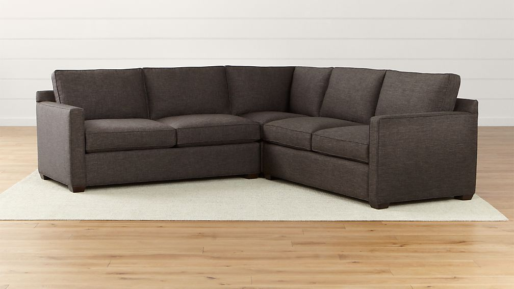 davis 3 piece sectional sofa crate and barrel