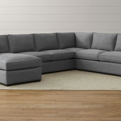 Crate And Barrel Davis Sofa Leather How To Clean Crushed Velvet 4 Piece Sectional Axis Ii Couch ...