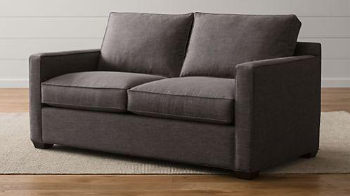 davis leather twin sleeper sofa canyon ridge microfiber queen beds and sofas | crate barrel