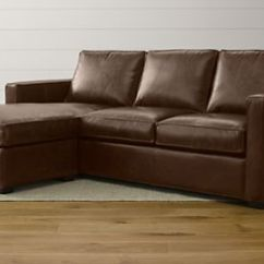 Davis Leather Twin Sleeper Sofa Child Seat Beds And Sofas | Crate Barrel