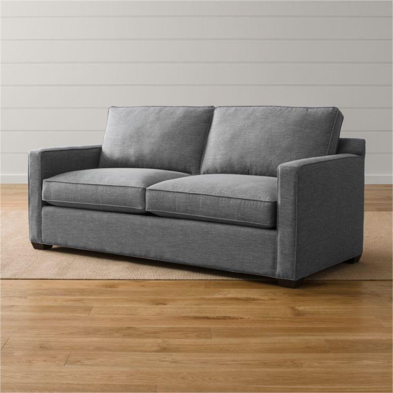 sofa sleeper mattress pad sectional sofas houston davis queen + reviews | crate and barrel