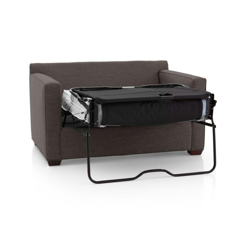 davis leather twin sleeper sofa creations armchair | crate and barrel