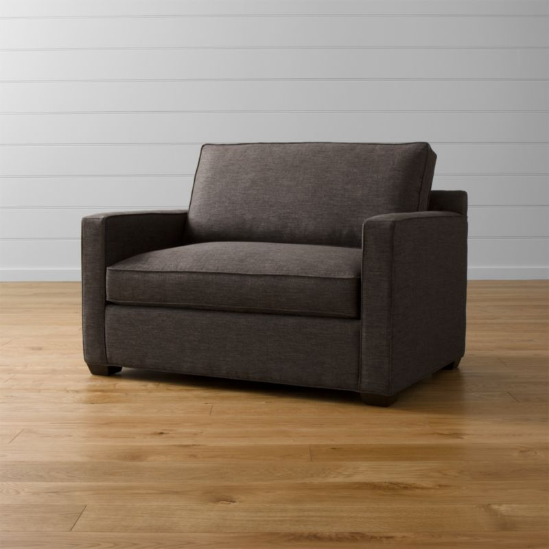 davis leather twin sleeper sofa warehouse sydney armchair + reviews | crate and barrel