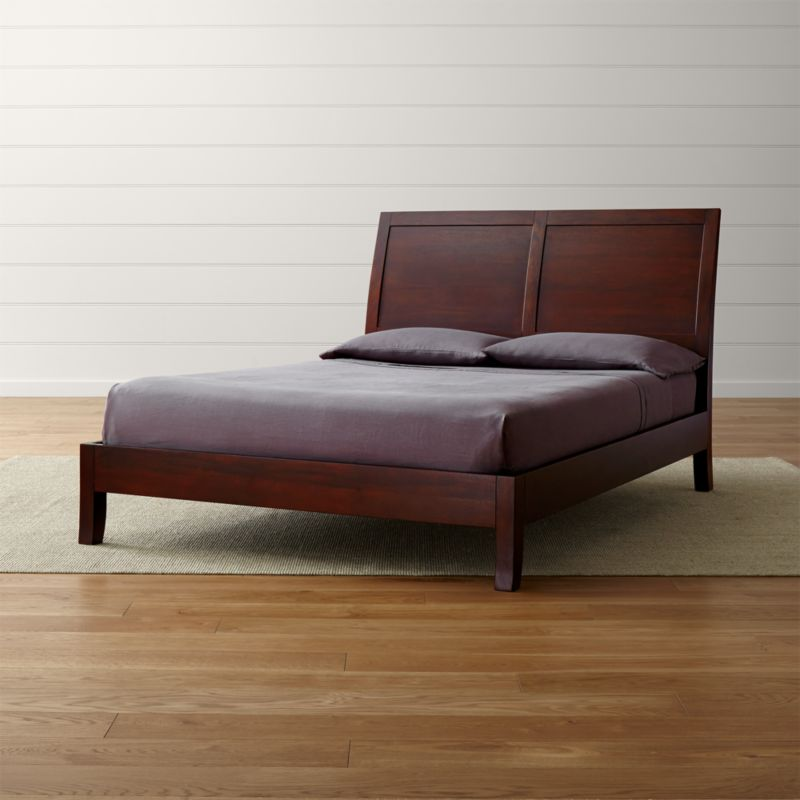 Dawson Clove Queen Sleigh Bed Reviews Crate And Barrel