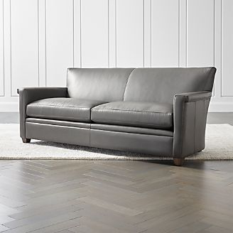 leather couch and chair wooden rocking glider sofas chairs crate barrel declan sofa