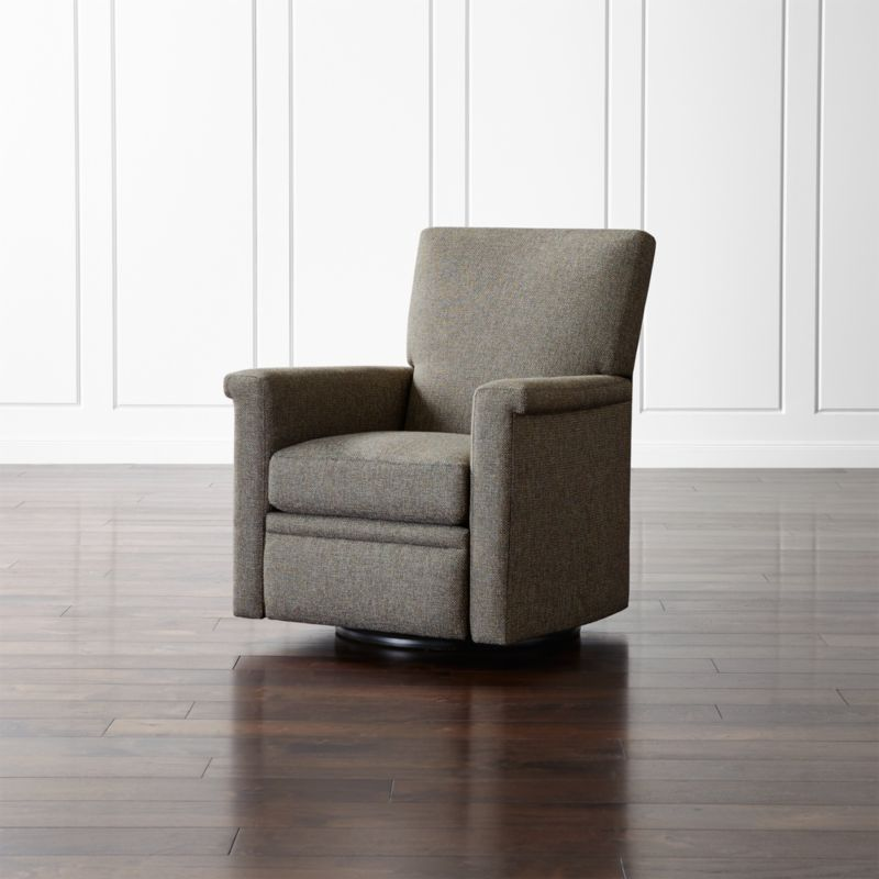 leather swivel barrel chair clearance outdoor cushions declan 360 recliner + reviews | crate and