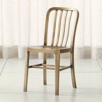 Delta Brass Dining Chair + Reviews | Crate and Barrel