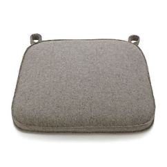 Grey Chair Cushions Emil J Paidar Barber For Sale Dining Crate And Barrel Delta Felt Bar Stool Cushion