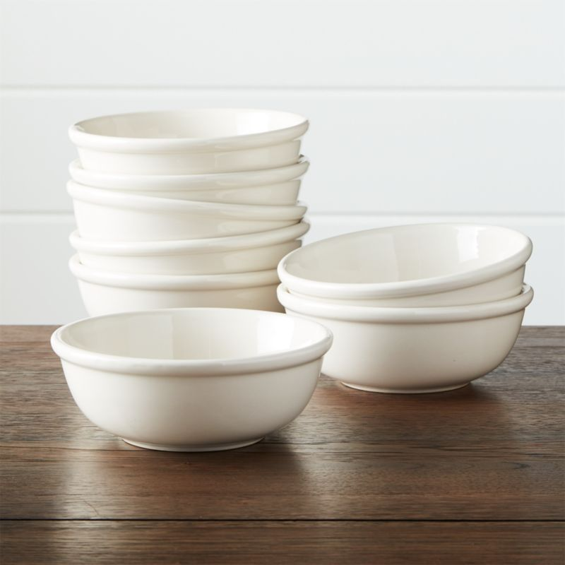 top rated kitchen cabinets remodel kansas city set of 8 dinette cereal bowls   crate and barrel
