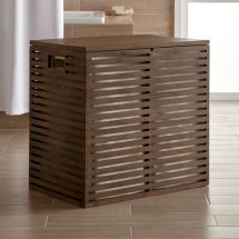 Dixon Large Bamboo Hamper With Liner Crate And Barrel