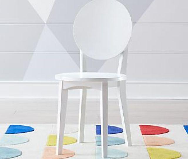 Double Dot White Kids Desk Chair