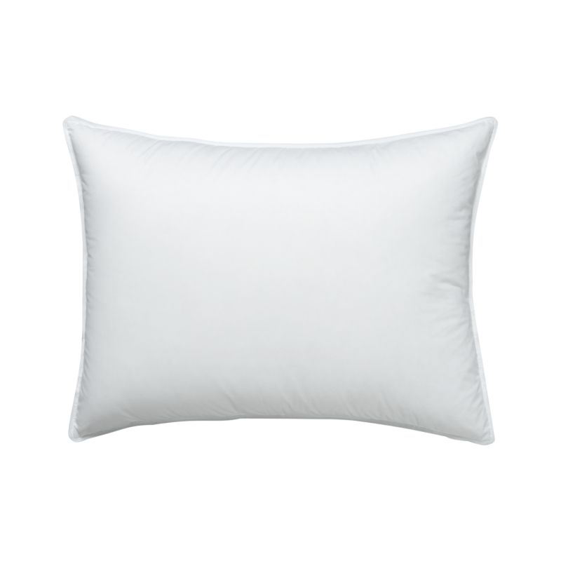 land of nod chair restoration hardware marseilles feather-down standard pillow | crate and barrel