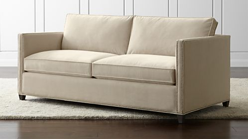 axis ii slipcovered twin sleeper sofa the brides city sweetheart beds and sofas | crate barrel