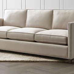 One And Half Seater Sofa What Can I Use To Clean My White Leather Sofas Couches Loveseats Crate Barrel Dryden 3 Seat