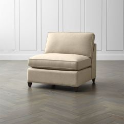 Crate And Barrel Armless Chair Modern Dryden Reviews
