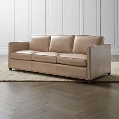 All Leather Sofa Bed Home Decorators Collection Gordon Beds Crate And Barrel Dryden 3 Seat Queen Sleeper With Nailheads