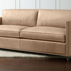 Leather Sleeper Sofa With Nailheads How To Upholstery A Dryden Queen Libby ...