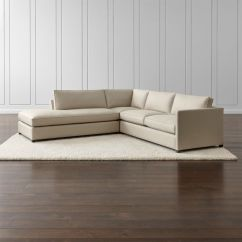 Apt Size Sectional Sofas Melody Bronze Sofa Dryden 3-piece Left Bumper + Reviews | Crate And ...