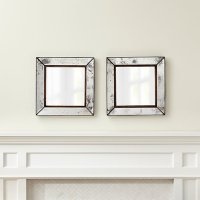 Dubois Small Square Wall Mirrors, Set of 2 | Crate and Barrel