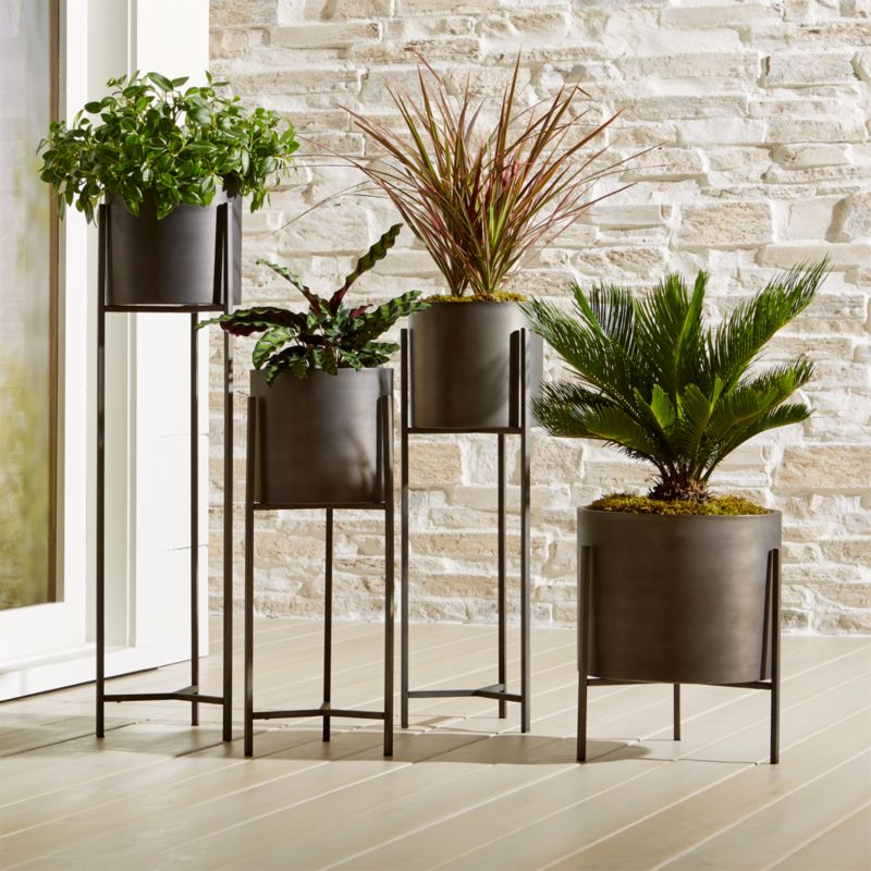 Dundee Floor Planters  Crate and Barrel
