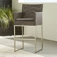 Outdoor Bar Chairs Korda Fishing Chair Stools Crate And Barrel Dune Taupe Stool With Sunbrella Cushion