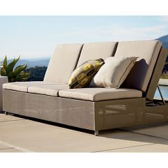 Sunbrella Sectional Sofa Indoor Children S Flip Out Uk Dune Taupe Double Chaise Lounge With ...
