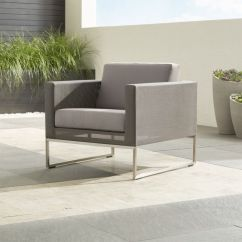 Sunbrella Outdoor Chair Cushions Purple Mesh Office Dune Lounge With + Reviews | Crate And Barrel