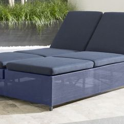 Sofa Lounger Outdoor Retro Brown Leather Dune Navy Double Chaise Lounge Reviews Crate And Barrel