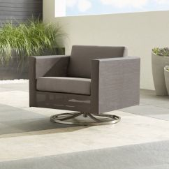 Swivel Lounge Chairs Inexpensive Ergonomic Dune Taupe Outdoor Chair Reviews Crate And Barrel Duneswivelloungechairshs16 1x1