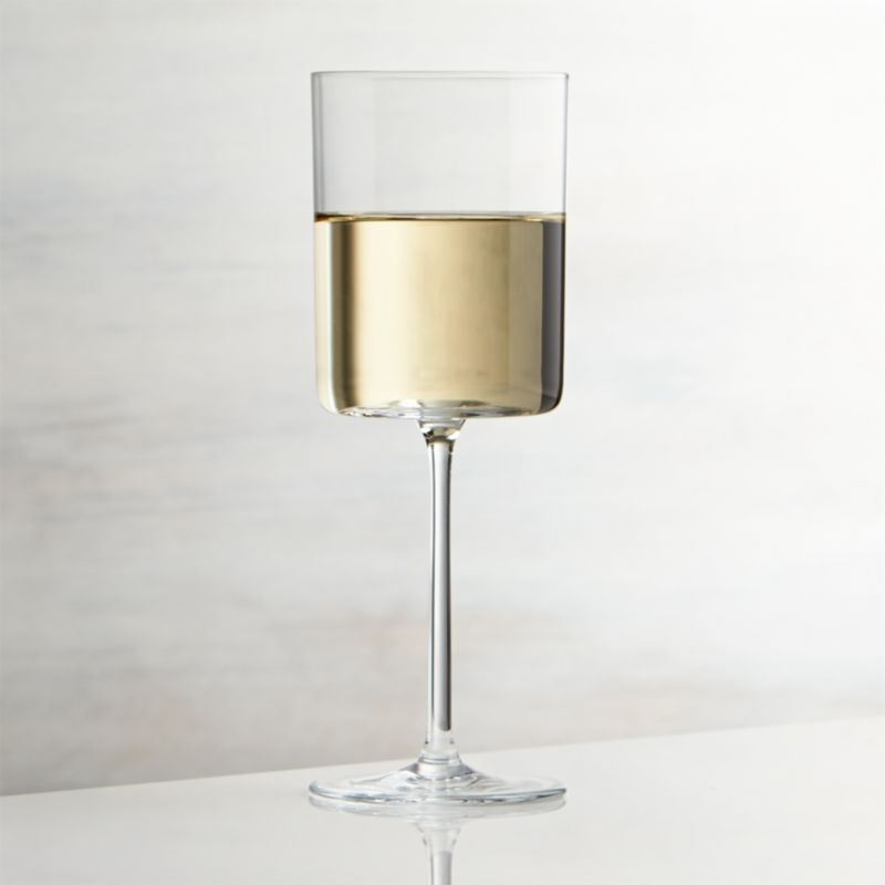 Edge White Wine Glass  Reviews  Crate and Barrel