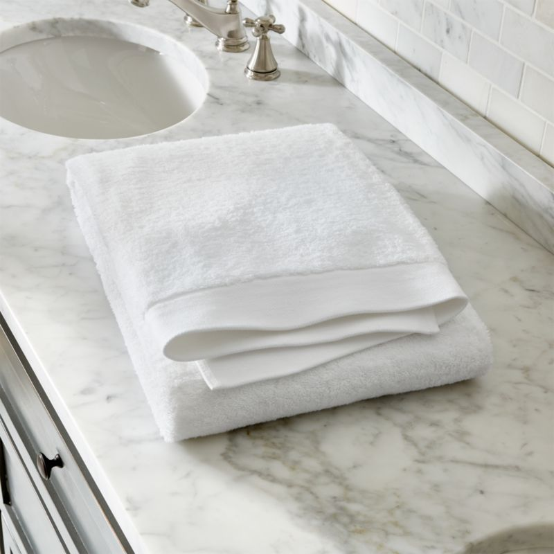 Egyptian Cotton White Bath Towel  Reviews  Crate and Barrel
