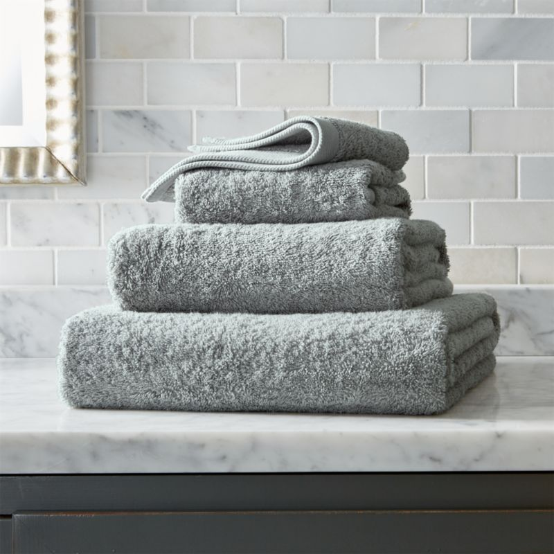 Grey Egyptian Cotton Towels  Crate and Barrel