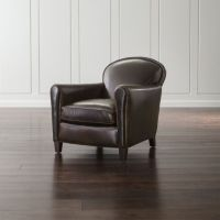 Eiffel Leather Club Chair + Reviews | Crate and Barrel