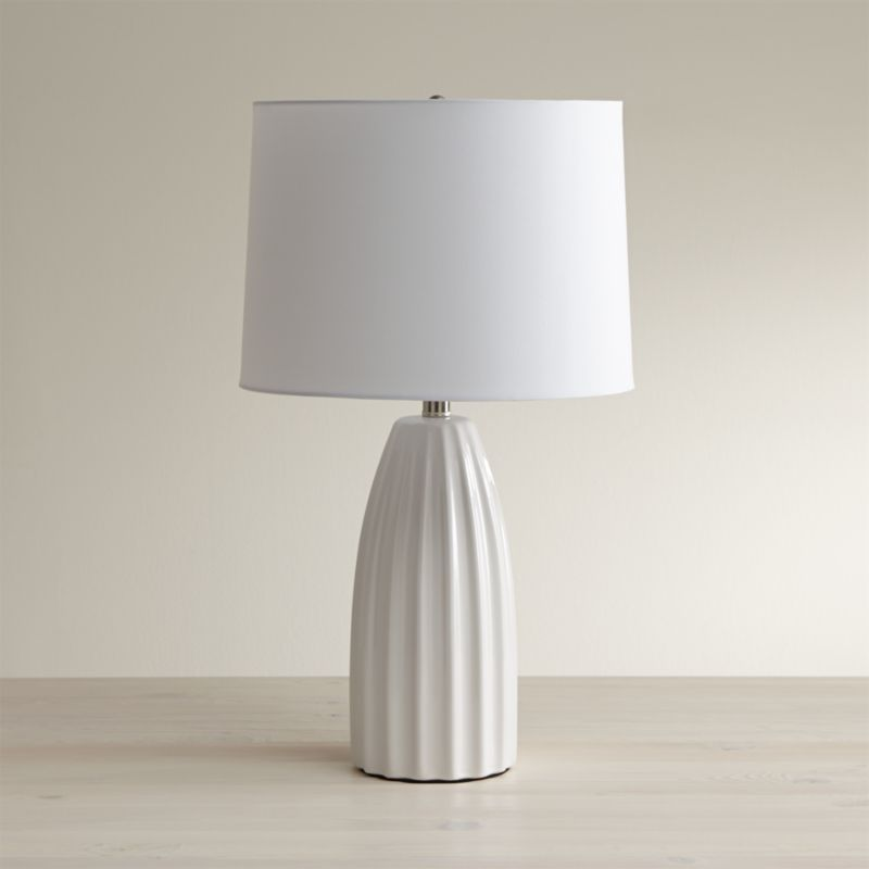 Ella White Table Lamp Set of 2  Reviews  Crate and Barrel
