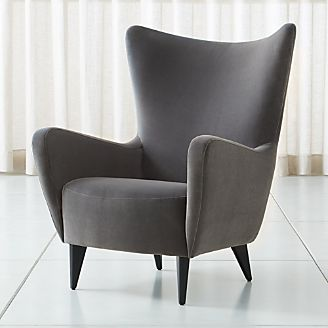 leather wingback chairs canada chair covers overall adelaide living room accent swivel crate and barrel elsa grey velvet