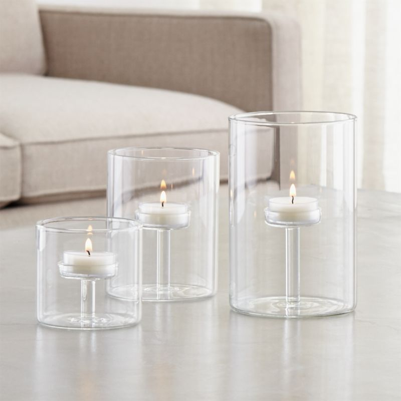 tall small kitchen table chris and cart elsa glass tealight holders   crate barrel