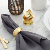 Emerson Gold Napkin Ring + Reviews | Crate and Barrel