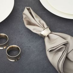 Small Living Room Coffee Table Rooms With Grey Leather Couches Emerson Napkin Ring + Reviews | Crate And Barrel