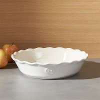 Emile Henry Modern Classic Sugar White Pie Dish | Crate ...