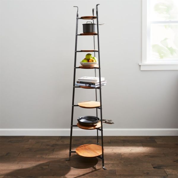 Enclume Standing 8-tier Pot Rack With Wood Trivets Crate And Barrel